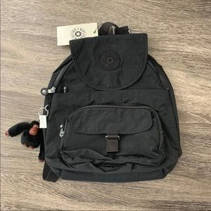 "Kipling Black ""Queenie"" Small Backpack NEW!!"